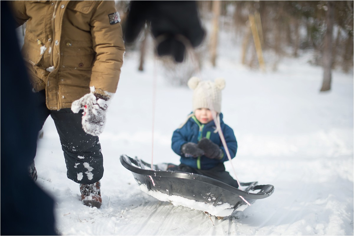 Sledding with the family by Bethany Meysenburg